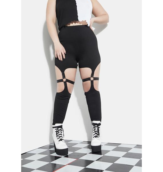 Current Mood The Bitter End Bondage Leggings