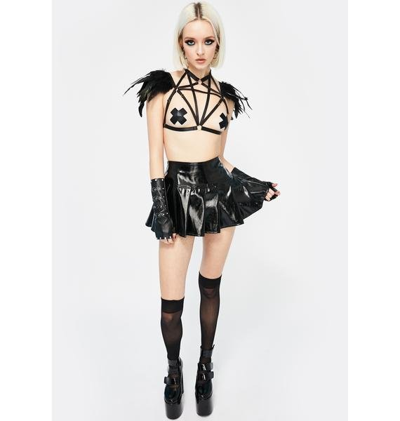 Occult Ambiance Strappy Feather Harness