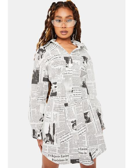 Extra Extra Shirt Dress