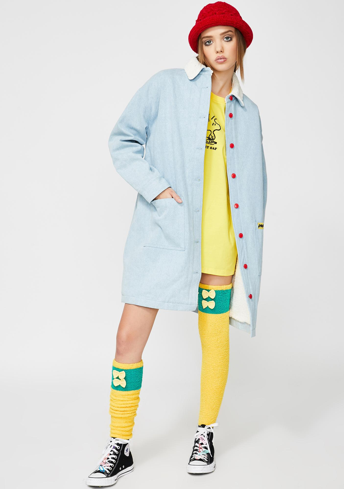 Lazy Oaf x Peanuts Fleecy Denim Jacket