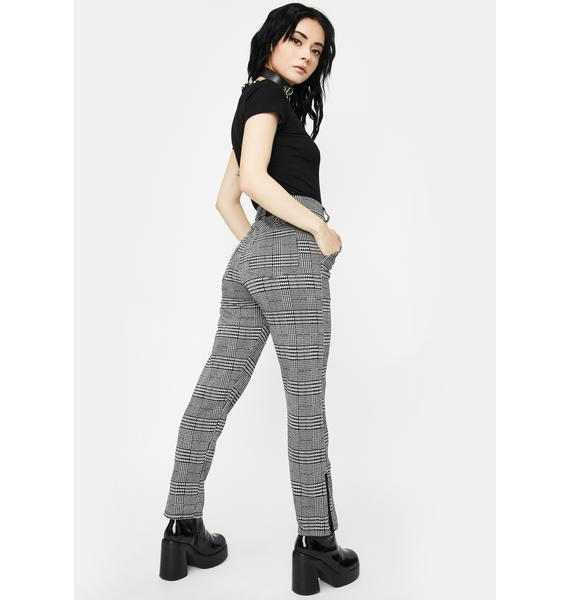 Disturbia Nina Plaid Trousers