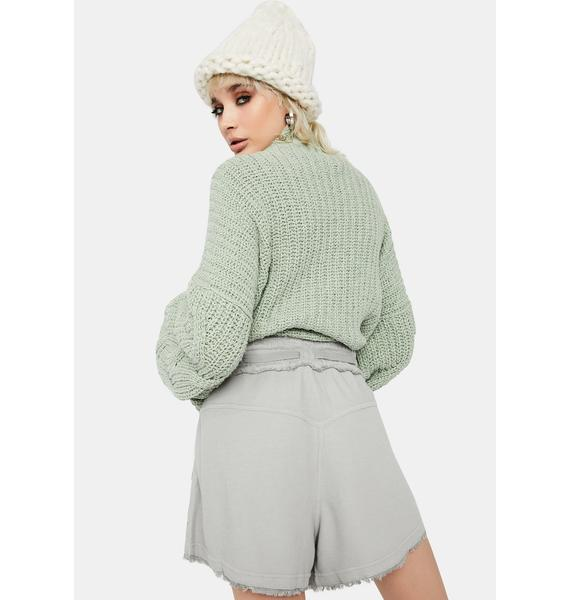 Free People Grey Up And Fly Comfy Shorts