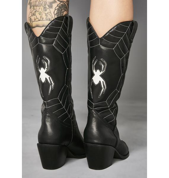 Widow Wicked Ways Spider Web Boots