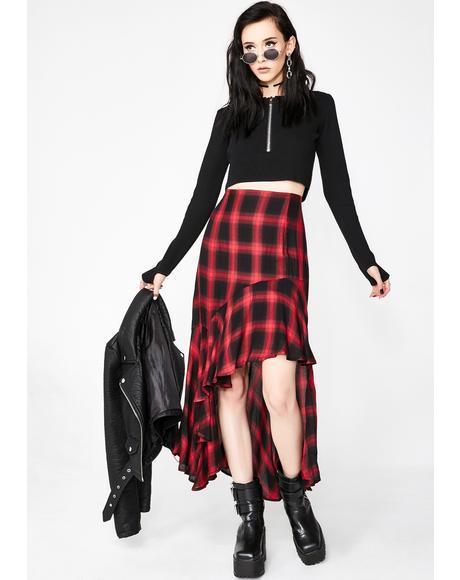 The Weirdo Plaid Skirt