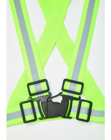 Built To Rebel Reflective Suspender Harness