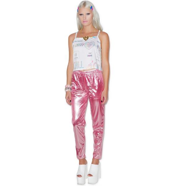 Bubblicious Metallic Pants