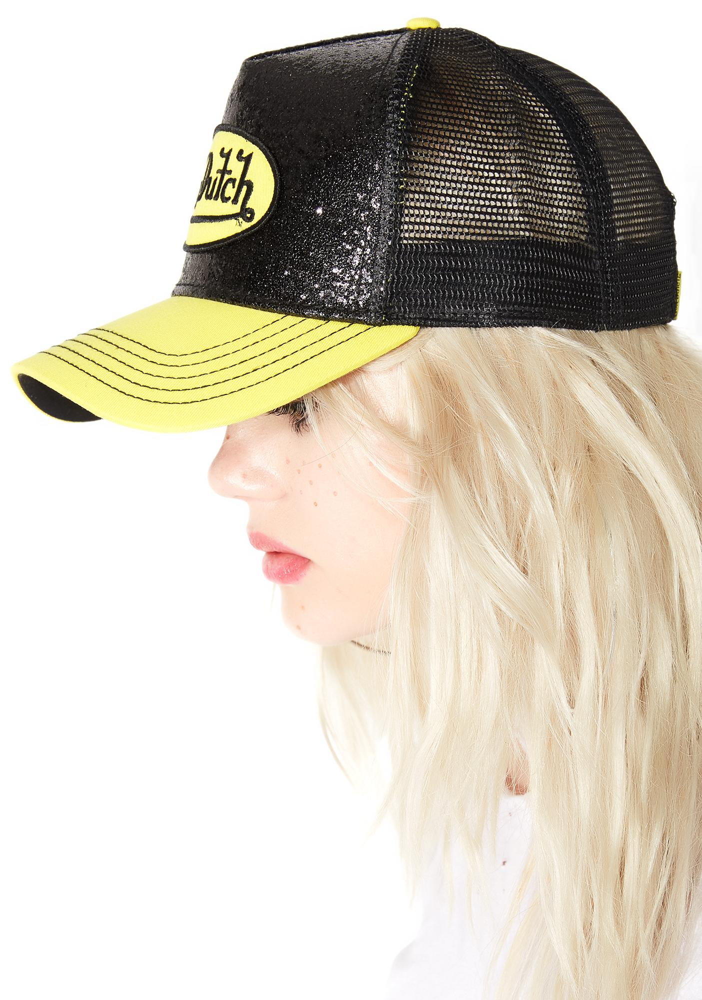 Von Dutch Glitter Trucker Hat