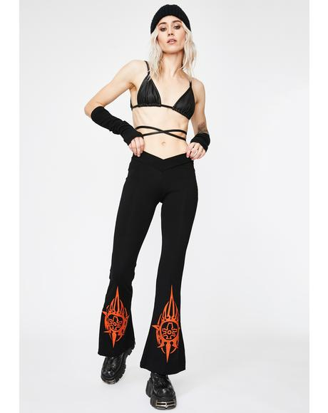 Graphic Wide Leg Pants