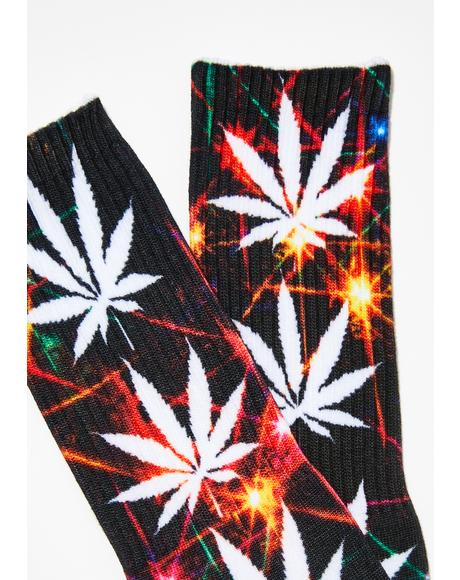 Wicked Plantlife All The Lights Socks