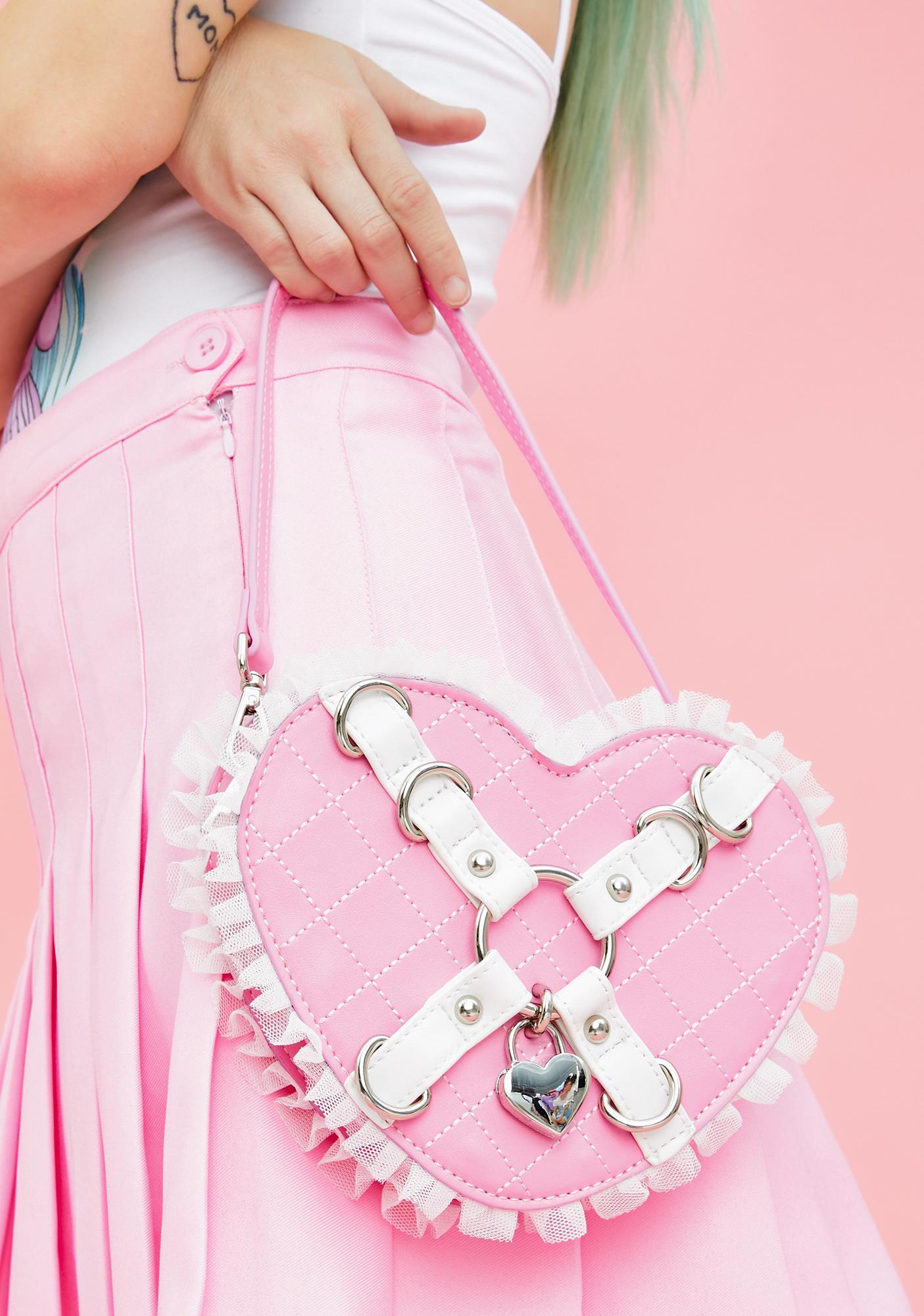 Sugar Thrillz Locked In Love Heart Purse
