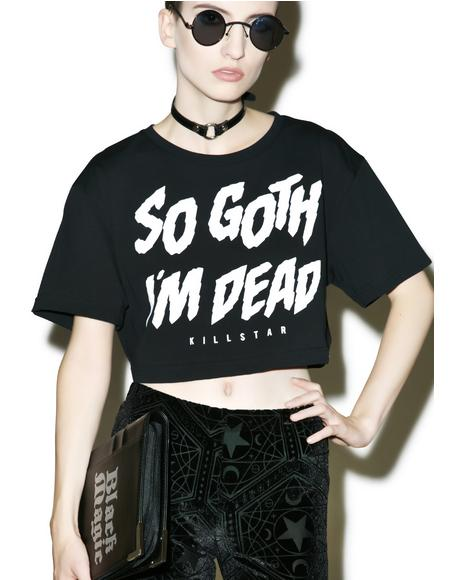 So Goth Crop Top