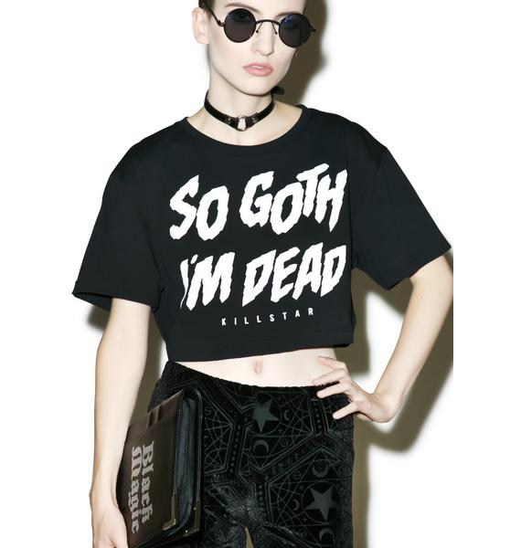Killstar So Goth Crop Top