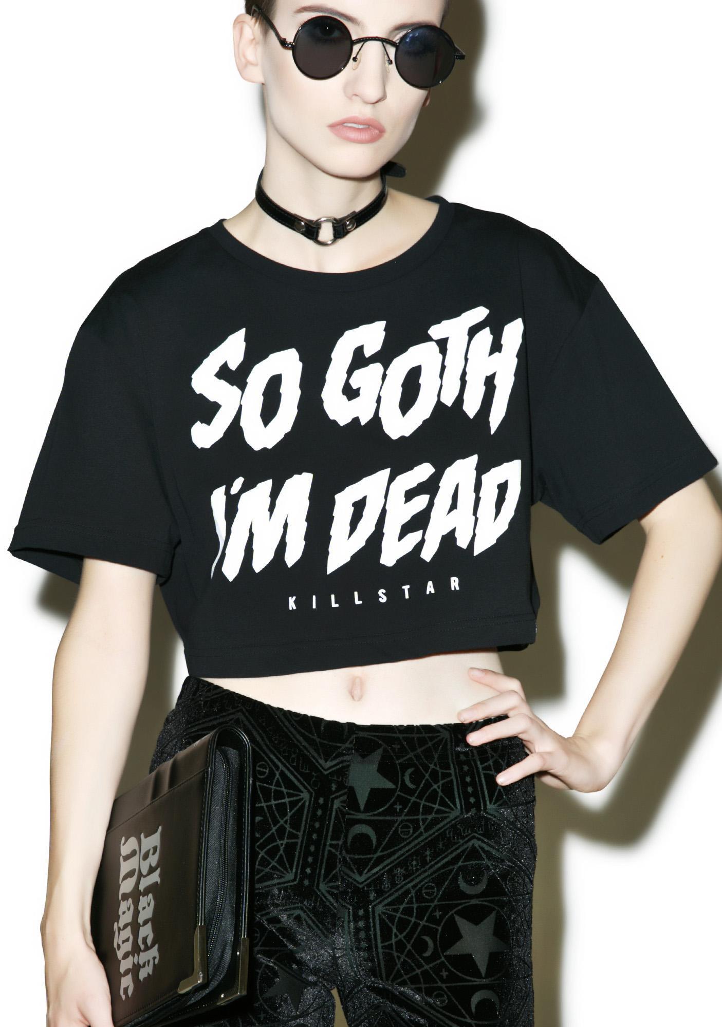 Killstar So Goth Crop Top
