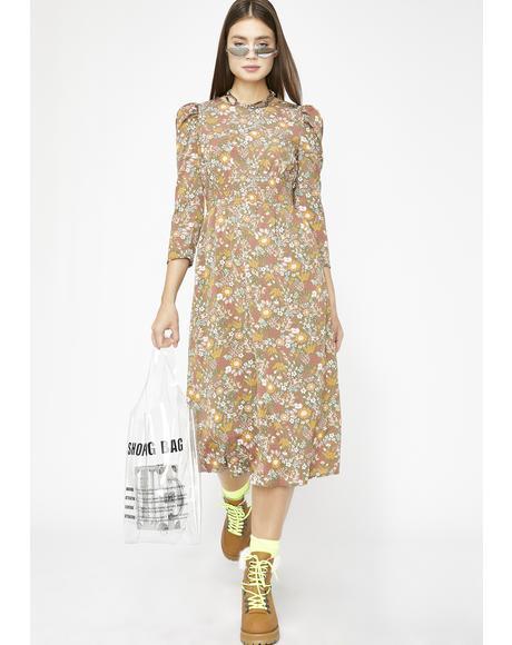 Flowy Gardens Midi Dress