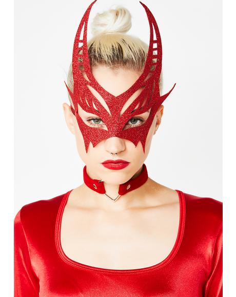 Bedazzled Devil Glitter Mask