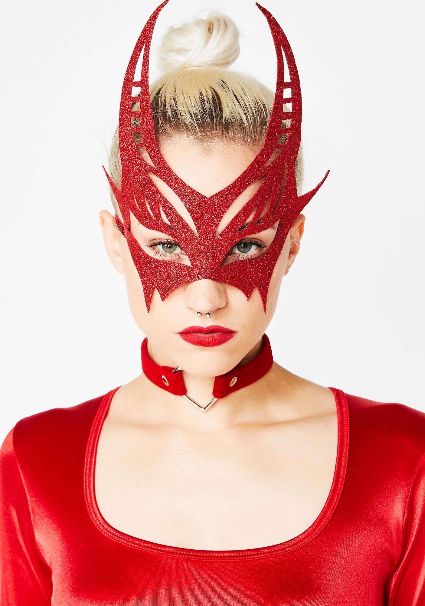 Bedazzled Devil Glitter Mask
