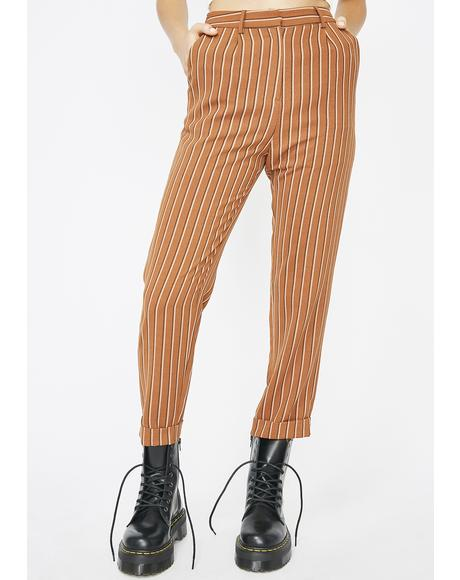 Liberated Babe Striped Trousers