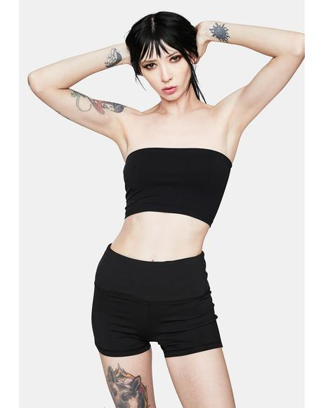 Noir Plush Love Cropped Tube Top