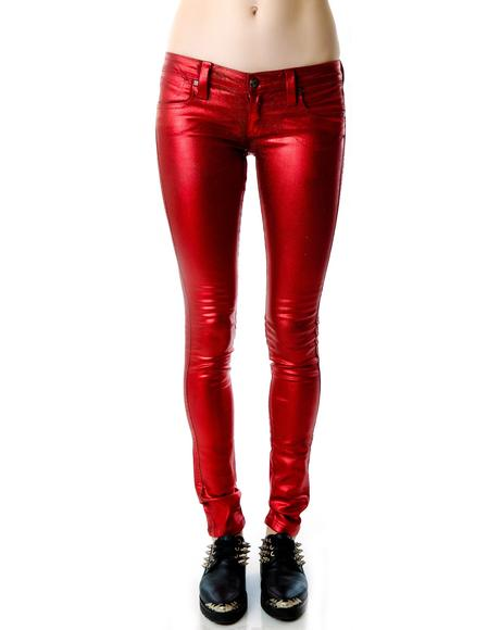 Metal Red My BFF Jegging