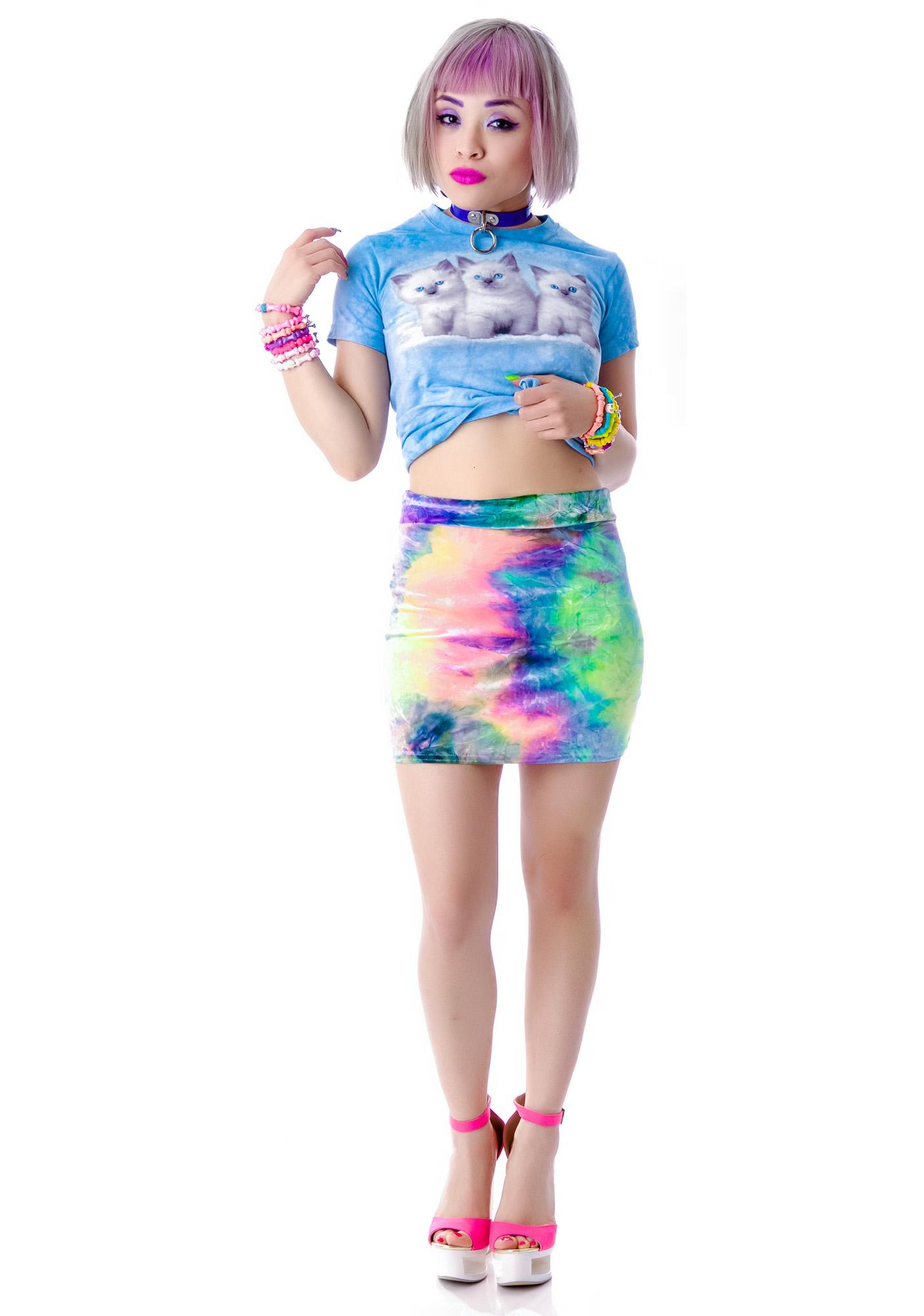 Our Prince of Peace Cosmic Velvet Bodycon Skirt