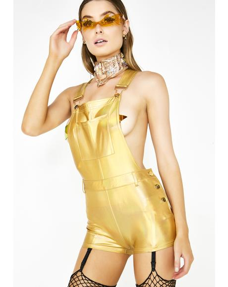Solar Seduction Metallic Overalls