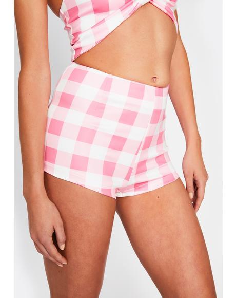Somebody Like U Checkered Shorts