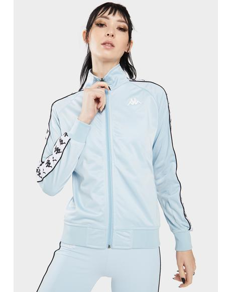 Blue 222 Banda Wanniston Slim Track Jacket