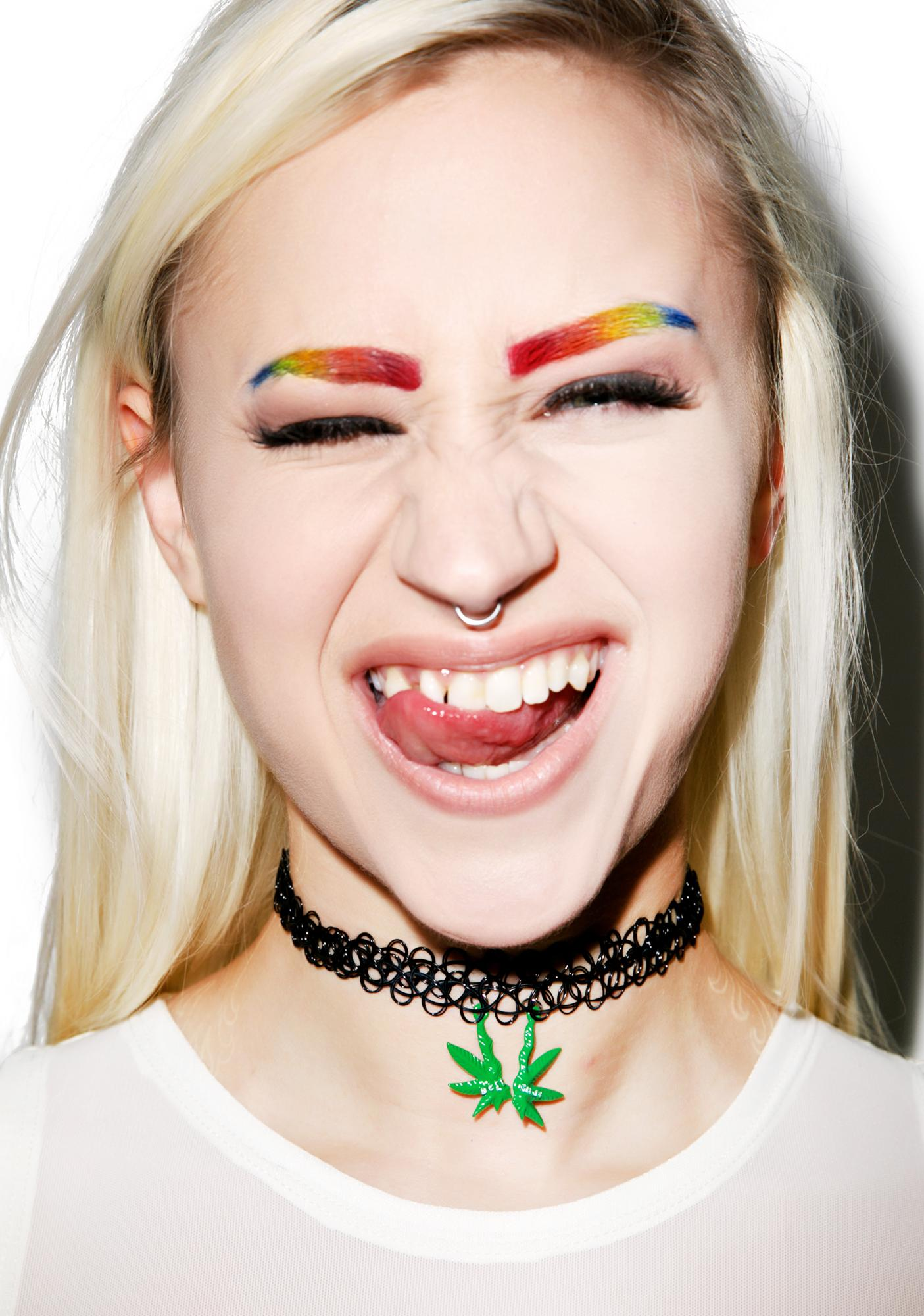Wicked Hippie Best Budz Tattoo Choker