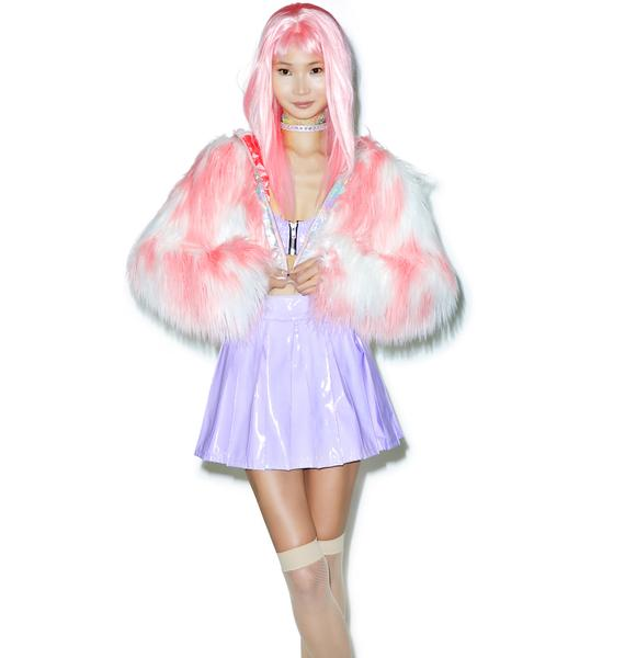 24HRS Princess Pastel Vinyl Skirt