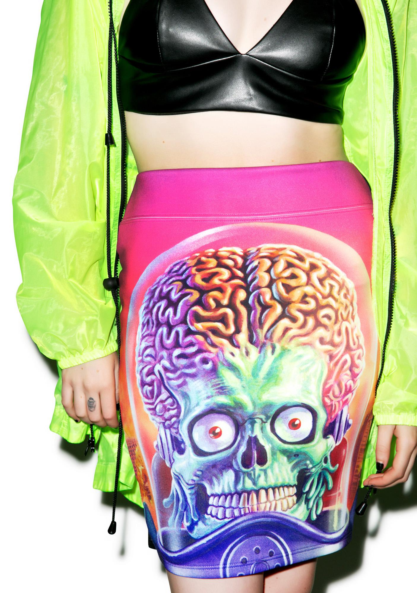 Kreepsville 666 Mars Attacks Full Battle Pencil Skirt