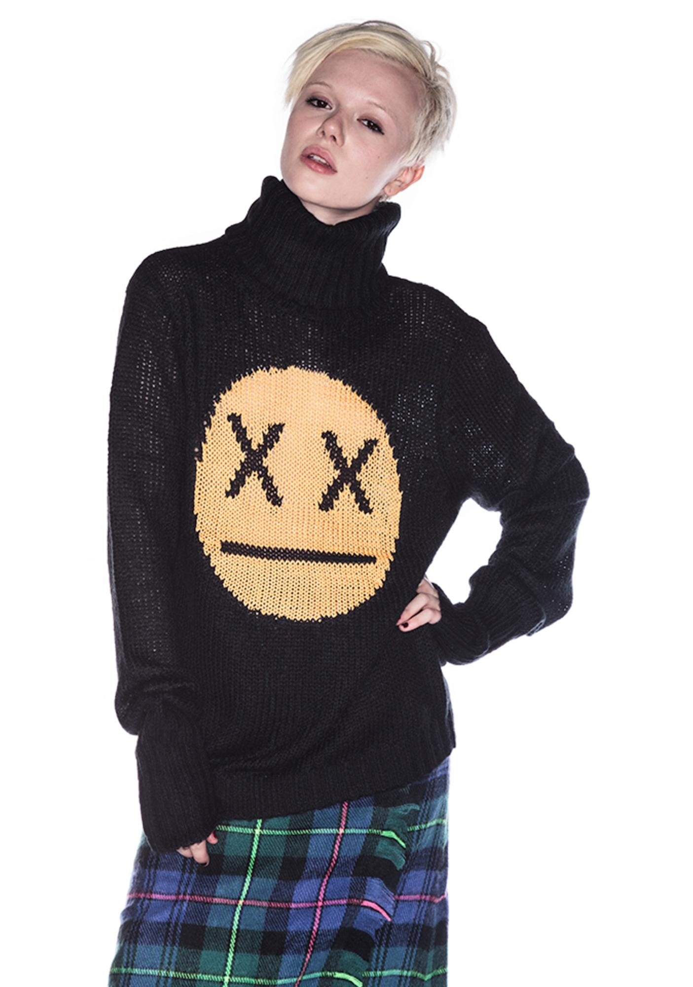 Wildfox Couture 90's Face Seattle Sweater