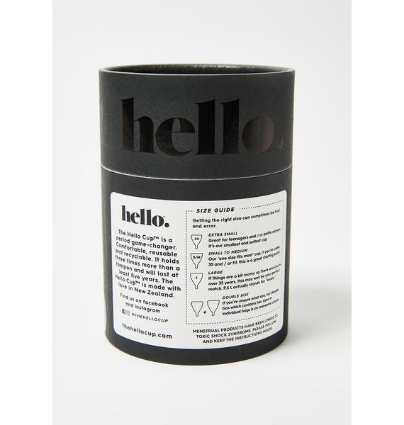 The Hello Cup Black Hello Cup