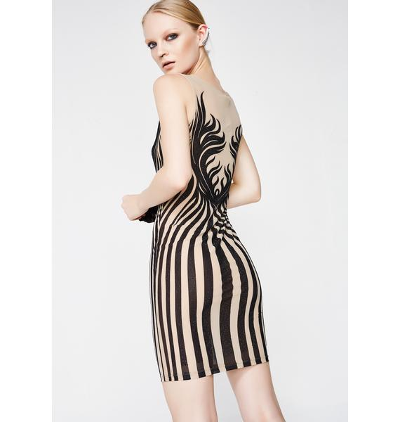 Kiki Riki Keep Them Waiting Bodycon Dress