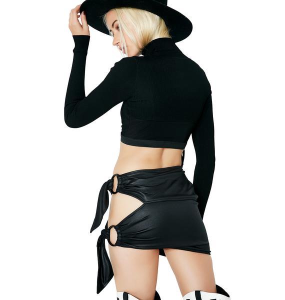 Misdemeanor Tie Skirt