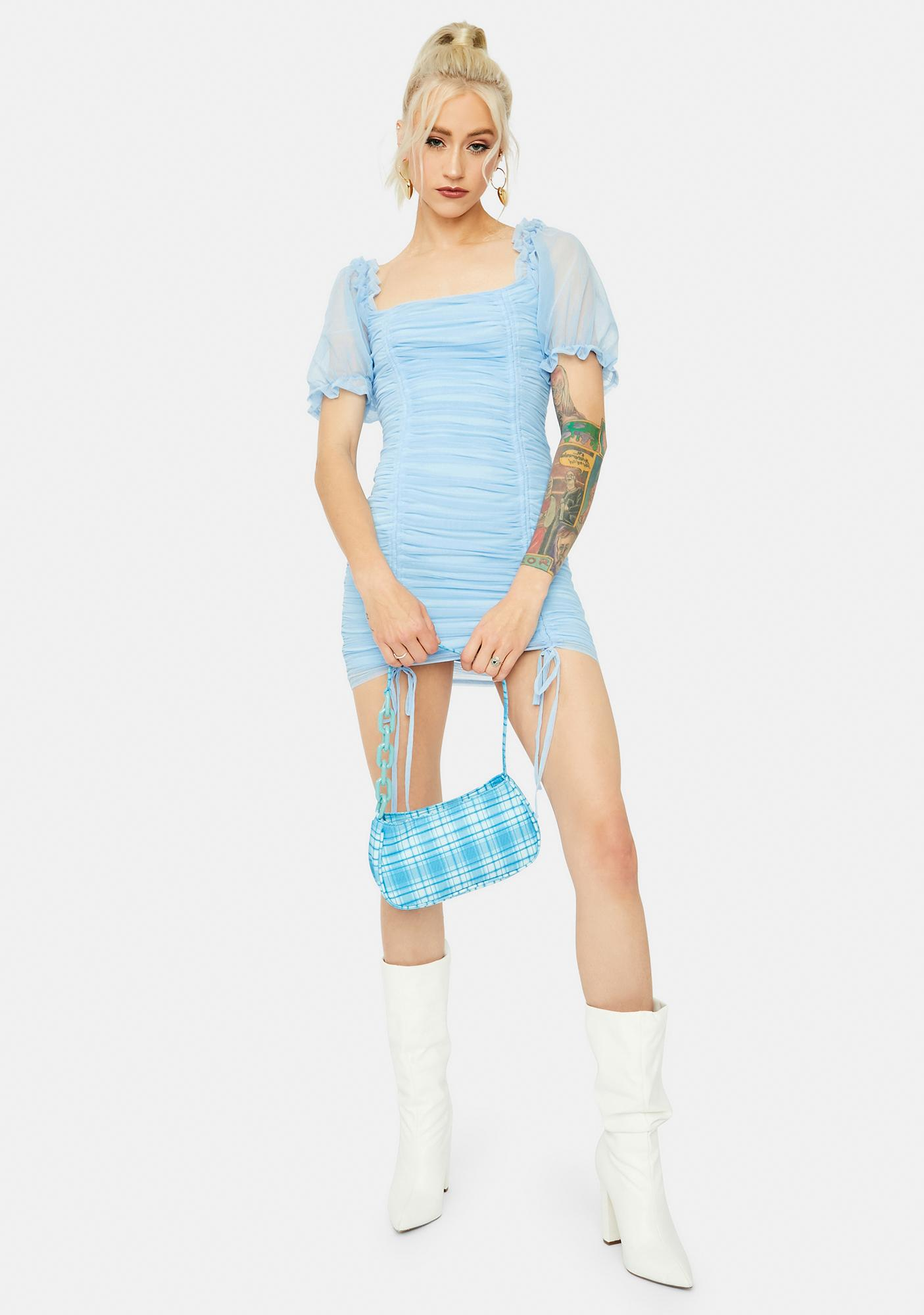 Becoming Bougie Puff Sleeve Mini Dress