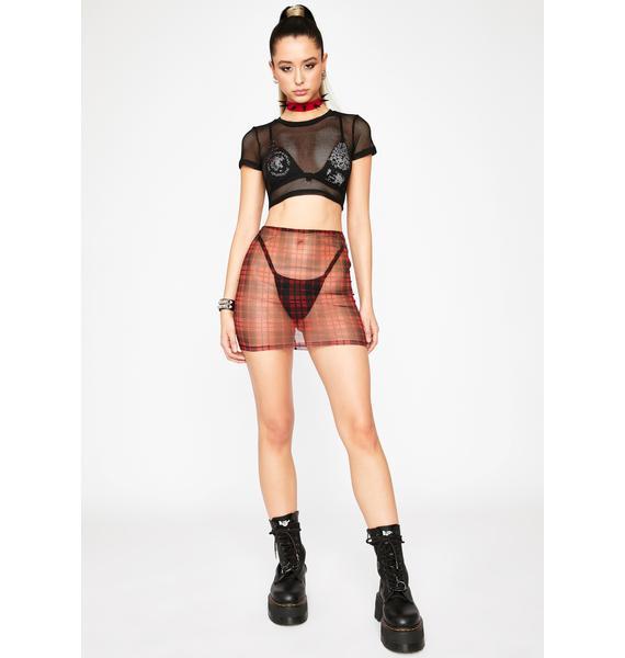 Hot Tunnel Vision Mini Skirt