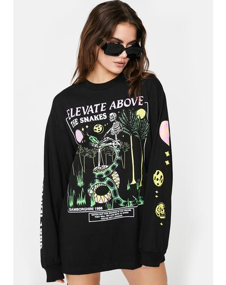 Elevate Above The Snakes Graphic Tee