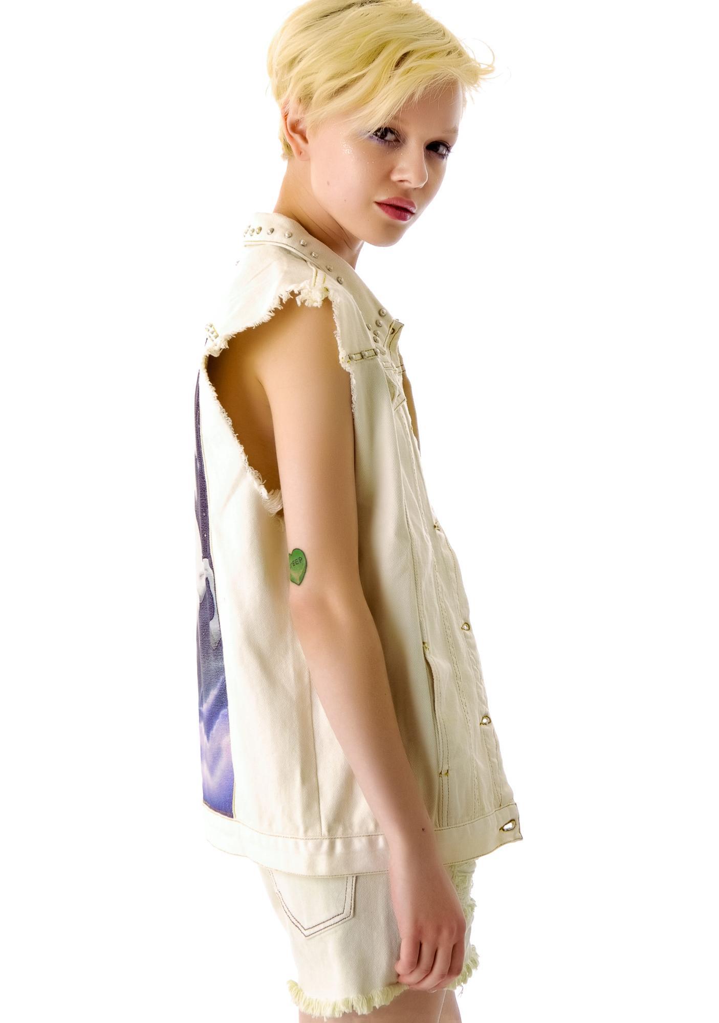 Somedays Lovin Magic Maine Embellished Denim Vest