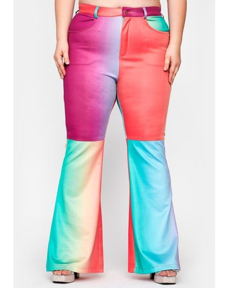 Her Rainbow Taste Flared Pants