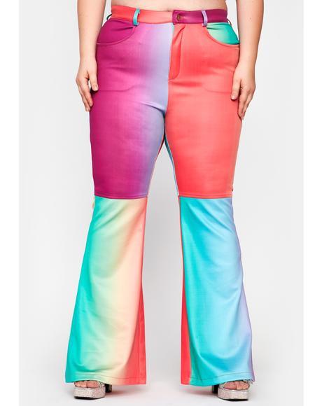 Her Rainbow Taste Flared Pants