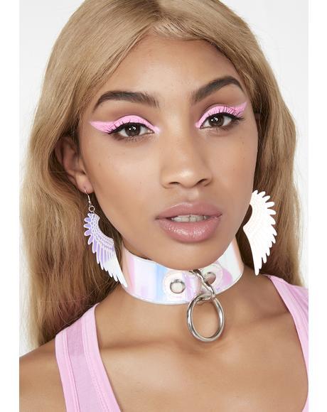 Wings Of An Angel Iridescent Earrings