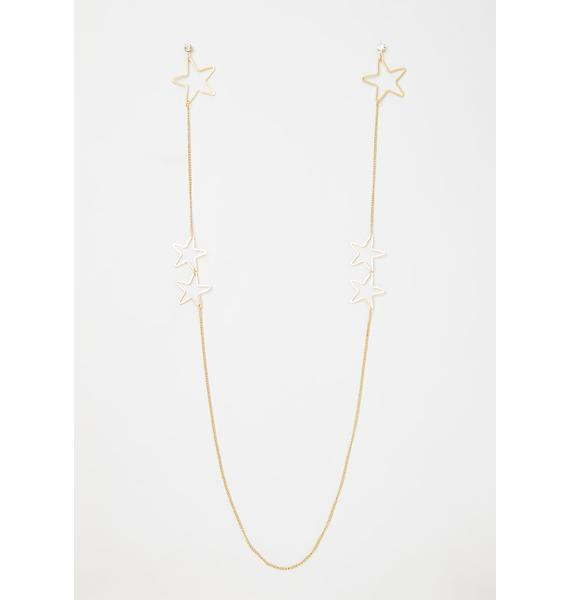 Into The Starlight Chain Earrings