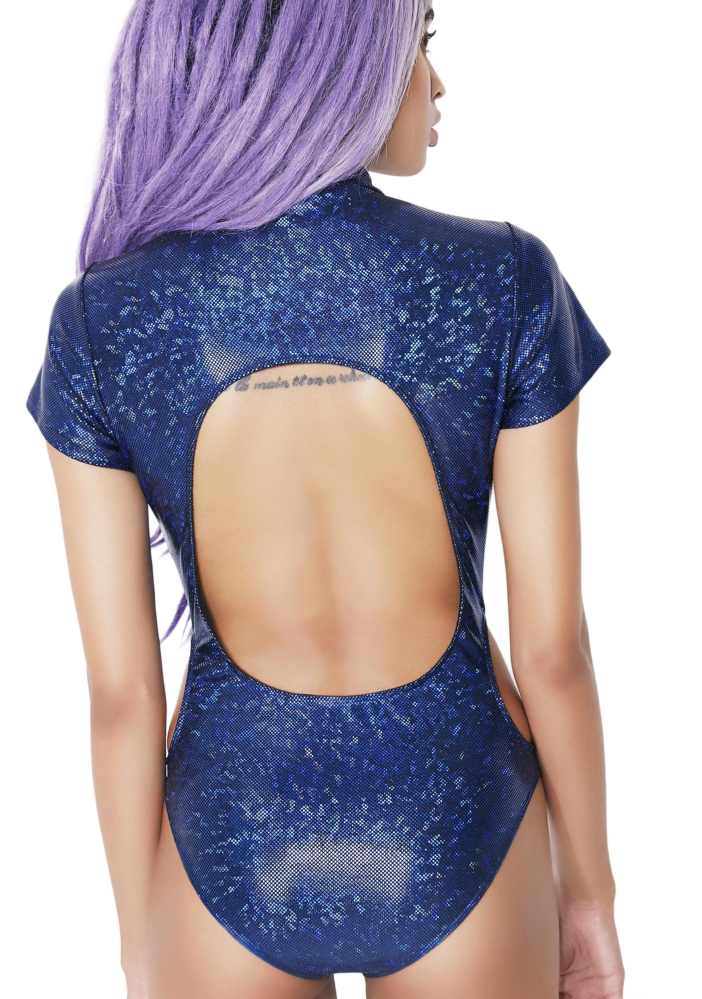 Club Exx Indigo Forbidden Planet Cutout Bodysuit