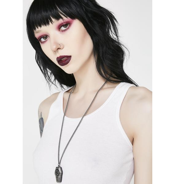Rest In Evil Coffin Necklace