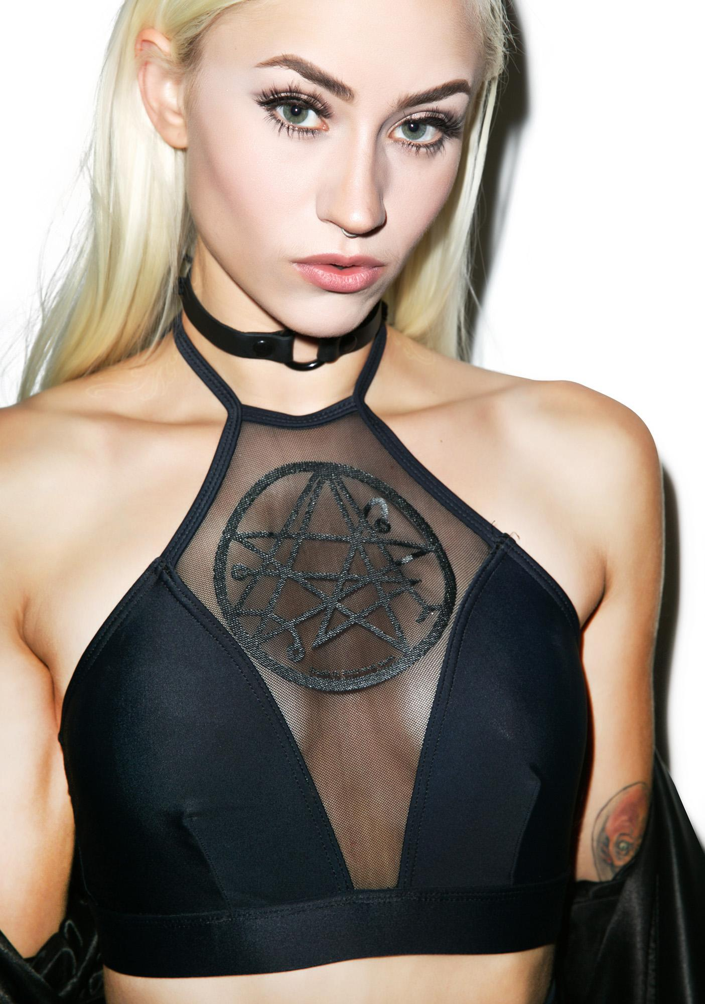 Disturbia Necronomicon Swim Top