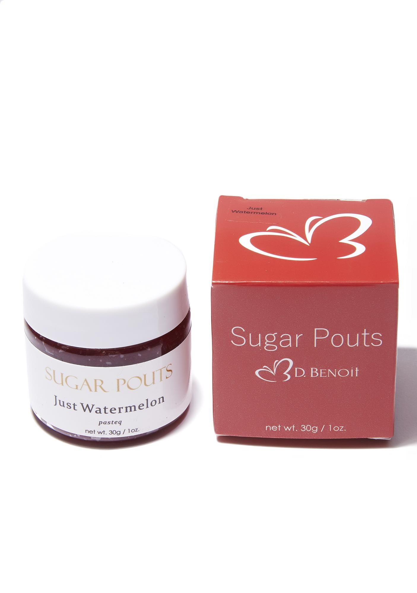 D. Benoit Watermelon Sugar Pouts Lip Scrub