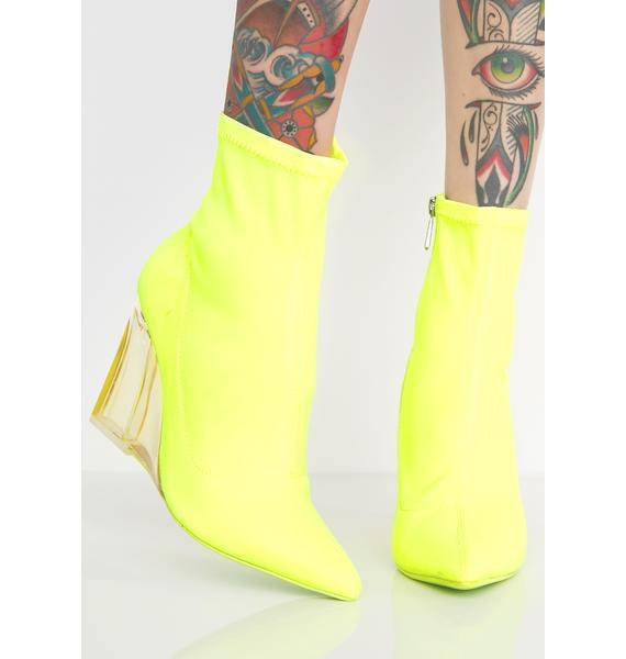 Seein Clearly Wedge Bootie
