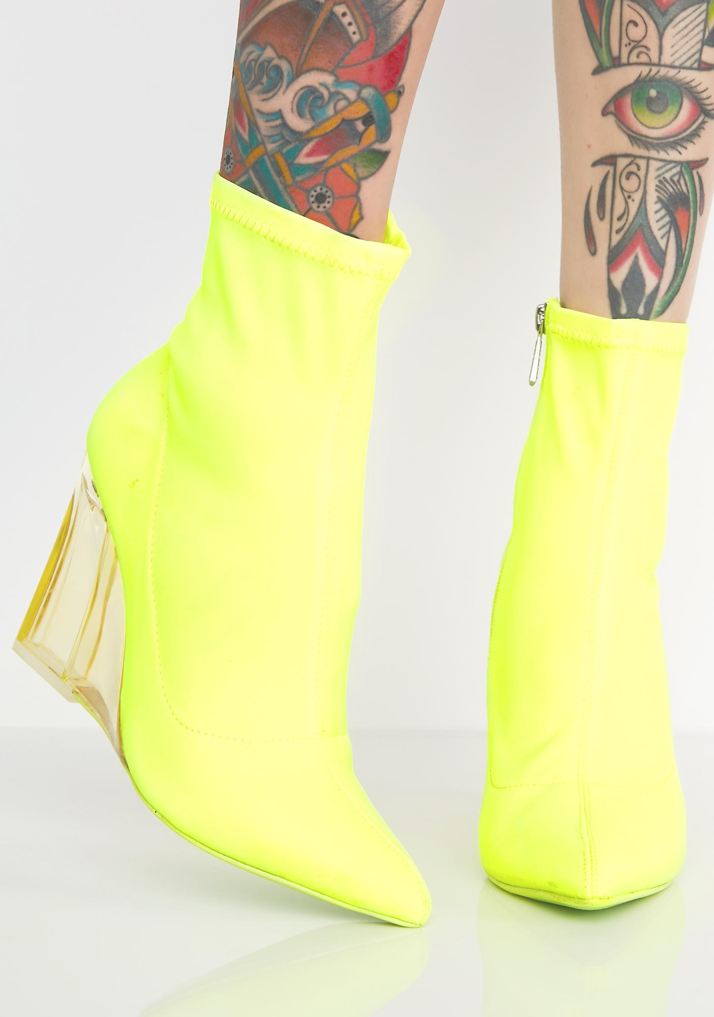 Seein Clearly Wedge Bootie by Cape Robbin