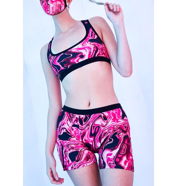 Club Exx Lady Acid Dimension Thermal Biker Shorts