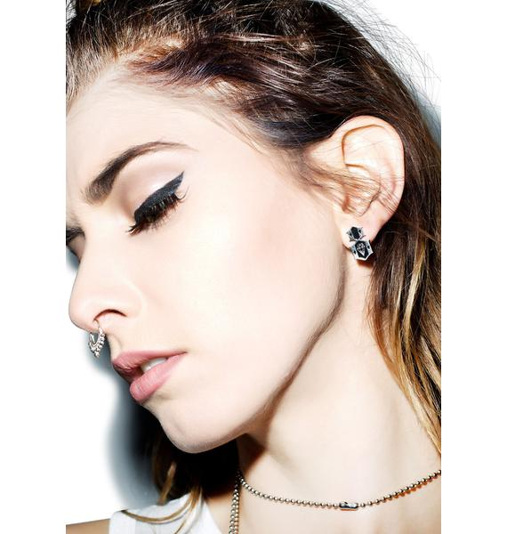 Rebel8 Logo Earrings